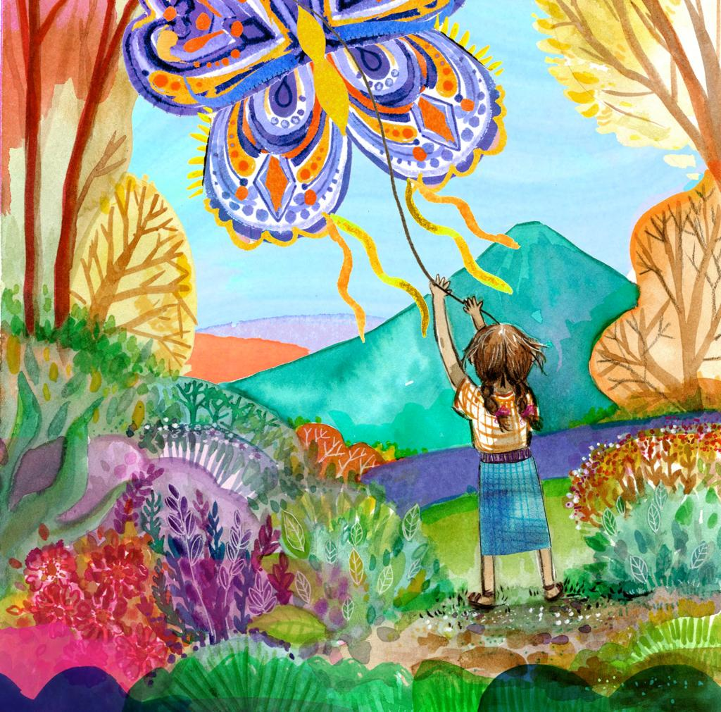Chorizsa Alvarado Illustration for the Magical Skies of Sumpango